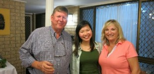 Rotarian Katherine & David - host family of Edwina at Ashmore