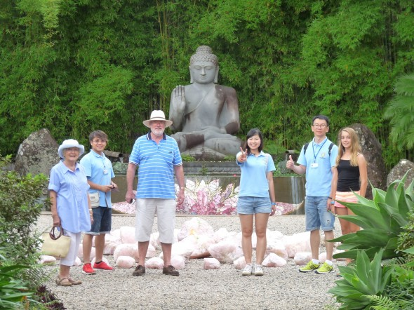 The team with our hosts at the Crystal Garden