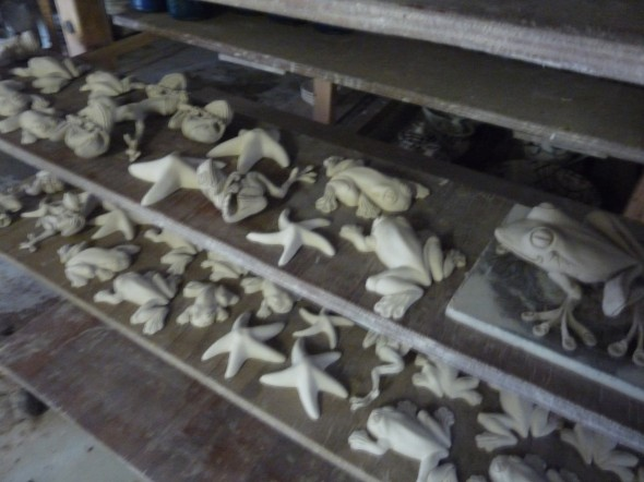 Frogs and starfish out of the mould